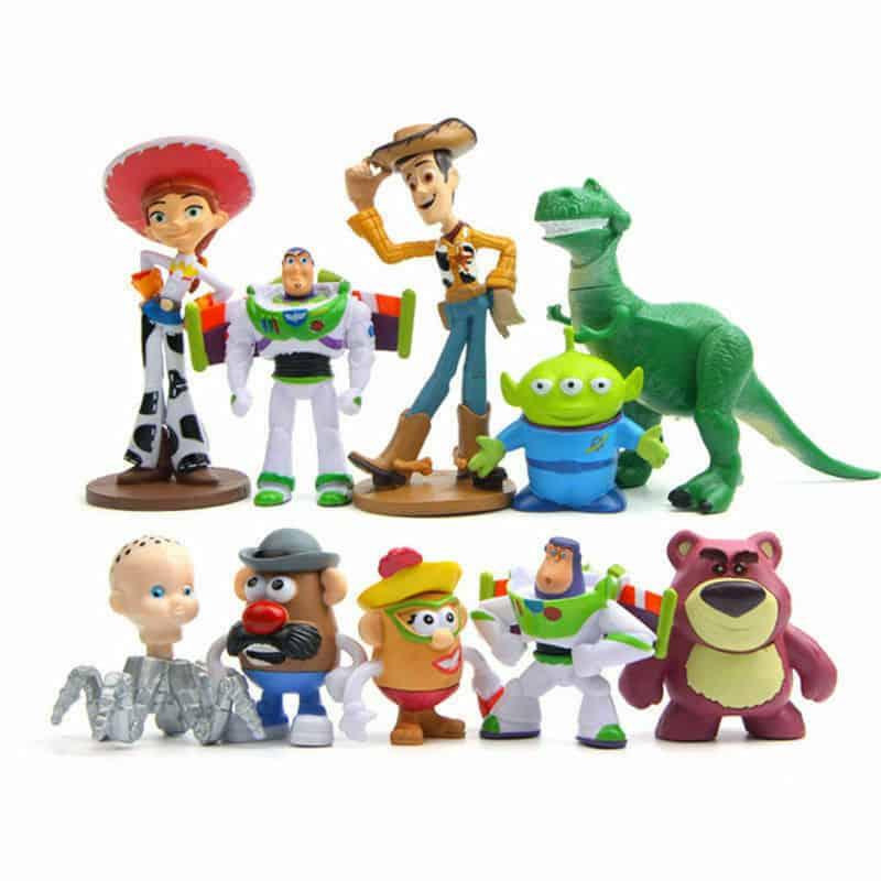 10 Pieces Toy Story Figure Woody Buzz Lightyear Jessie Rex Mr Potato Head Lotso Toys