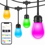 Dimmable Waterproof LED Outdoor String Light Cafe Lights with APP Color Changing