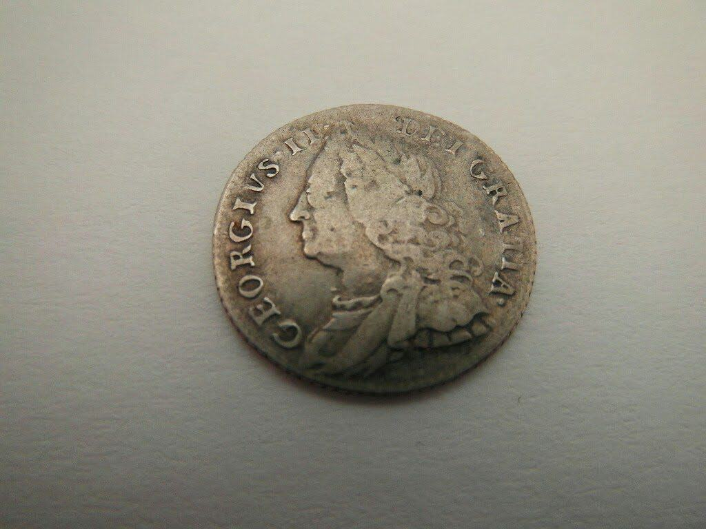1757 George 2nd Silver Sixpence