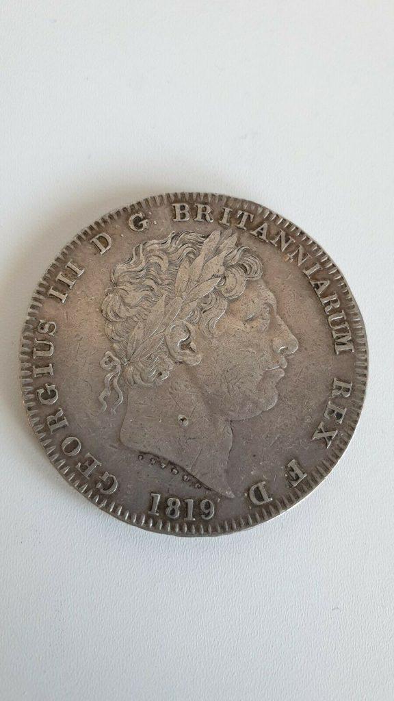 1819 George 3rd Silver Crown