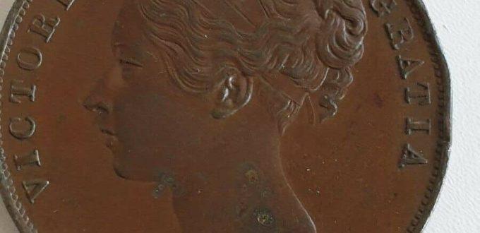 1846 queen Victoria Copper Penny