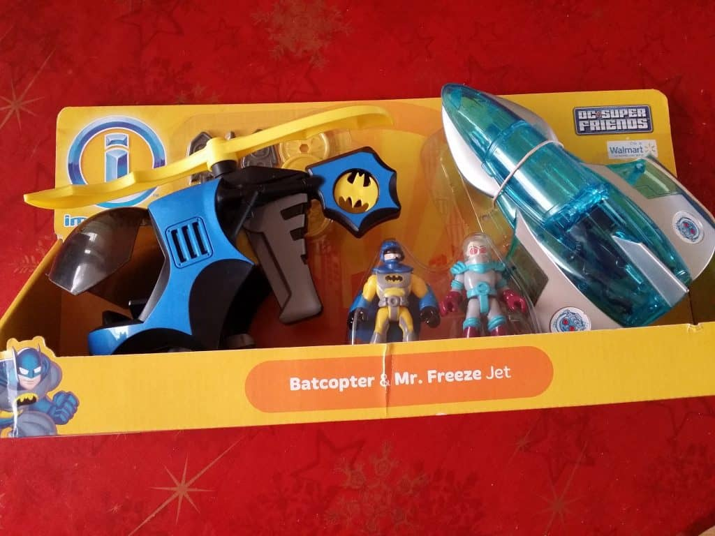 imaginext batcopter and mr freeze jet