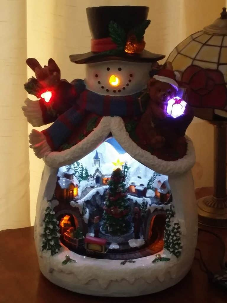 ceramic light up snowman