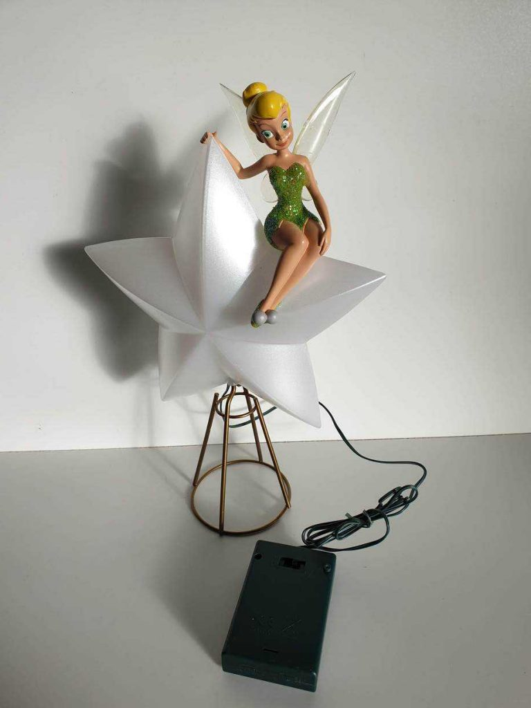 disney tinkerbell christmas tree topper ornament