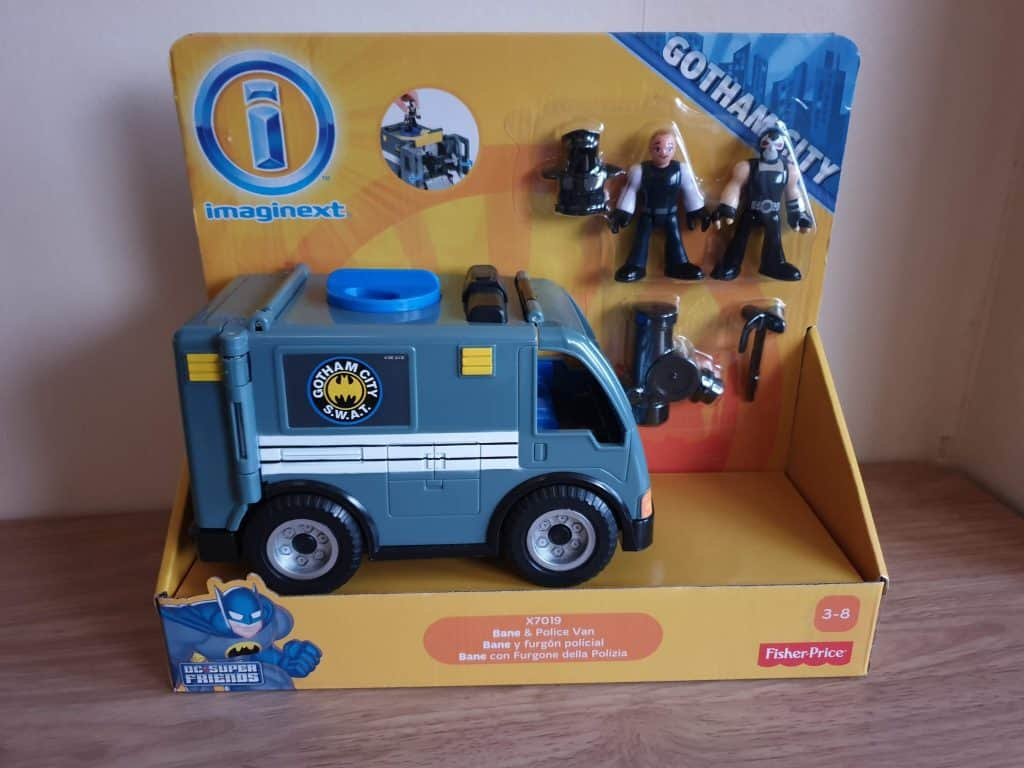 imaginext gotham city bane and police van