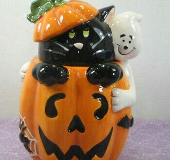 halloween cat cookie jar