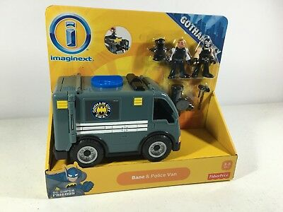 Imaginext Bane and Police Van DC Superfriends Gotham City Fisher Price