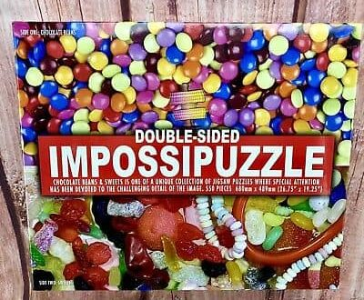 Jigsaw Puzzles Impossipuzzle Double Sided chocolate beans Sweets new sealed gift