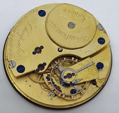 SIR JOHN BENNETT LTD QUALITY ENGLISH POCKET WATCH MOVEMENTS FOR PARTS