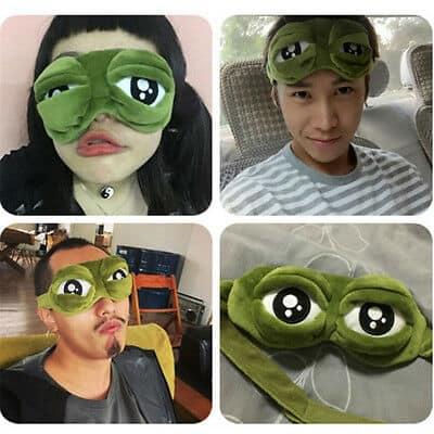 Sad Eye Pepe Frog Mask