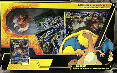 Pokemon TCG Reshiram and Charizard GX Box Figure Collection ~ Sealed Box.
