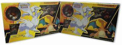 2X Pokemon RESHIRAM & CHARIZARD GX BOX Figure Collection Sealed Packs Brand New