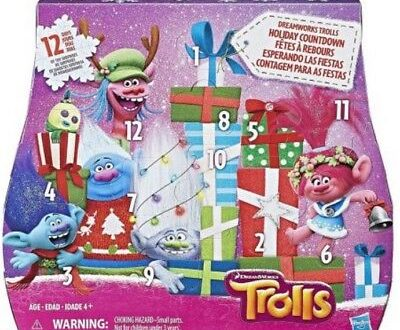 Count down to the holidays with DreamWorks Trolls Holiday Countdown Advent calendar! Inspired by the DreamWorks Troll Holiday Special, open up to a happy surprise each day for 12 days leading up the holiday season.