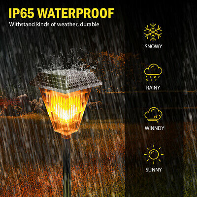 Solar Powered 12LED Fence Post Lights Waterproof Garden Landscape Yard Lamp