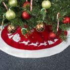 Christmas Tree Skirt Red