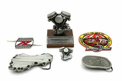 V-Twin Panhead Motorcycle Gift Set Model Enigne Keychain Pin Belt Buckle Harley