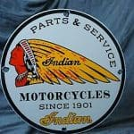Vintage Indian Motorcycle Advertising Signs