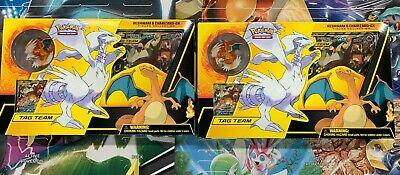 x2 Pokemon RESHIRAM & CHARIZARD GX BOX Figure Collection Sealed Packs