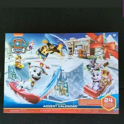 2019 Paw Patrol Advent Calendar Christmas Countdown 24 Days Holiday Kids Toy