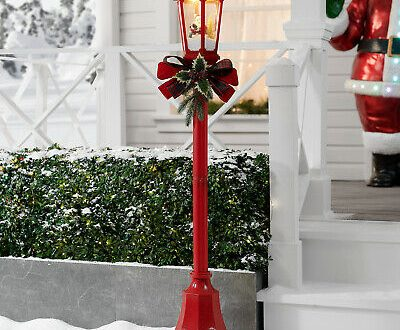 Christmas Santa Lamp Post