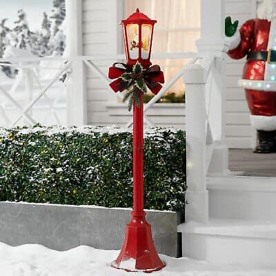 Christmas Santa Lamp Post