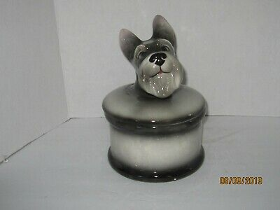 Schnauzer Shaped Cookie Jar