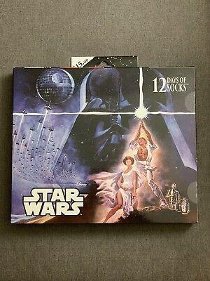 Disney Star Wars 12 Days of Christmas Socks *Mens Shoe Size 6-12 Advent Calendar