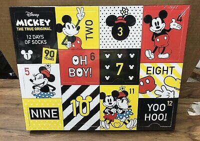 Disney's Mickey Mouse 90th Anniversary Women's 12 Days Of Socks Advent Calendar