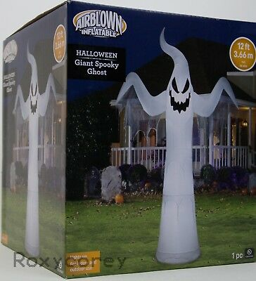 Halloweem Gemmy 12 ft Light Up Giant Spooky Ghost Airblown Inflatable NIB