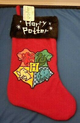 "Harry PotterHoliday Stocking for the mantle!Newabout 17"" longred fleece body with embroidery,and black short pile fake fur cuff. Track Page Views WithAuctiva's FREE Counter"