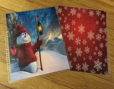Lamp Post Snowman Christmas Front/Back Cover Set 4 use w Erin Condren Planner