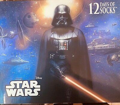 Men's Star Wars 12 Days of Socks Christmas Gift Set Advent Calendar Darth Vader