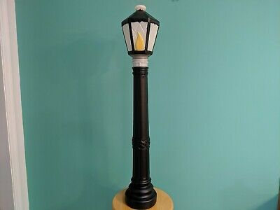 "New Christmas 39"" Lighted Blow Mold Lamp Post Yard Decoration, Black"