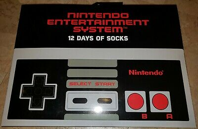 NEW Nintendo NES 12 Days of Socks Advent Calendar - Men Size 10-13