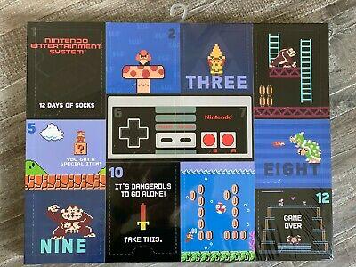 NINTENDO SUPER MARIO 12 Days of socks ADVENT Christmas Calendar NES