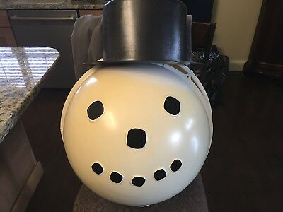 """SHAMROCK PLASTICS """"Christmas Snowman With Top Hat"""" LAMP POST COVER"""