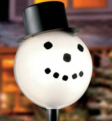 Snowman Lamp Post Cover