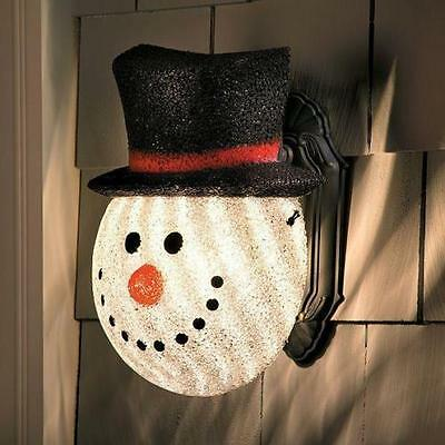 SNOWMAN PORCH LIGHT LAMP POST COVER CHRISTMAS WINTER HOLIDAY DECOR BRAND NEW