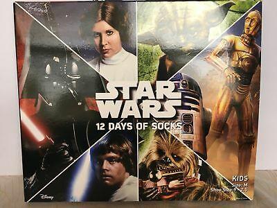 Star Wars 12 Days of Christmas Socks Size Medium KIDS Advent Calendar Target