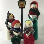 Christmas Carolers Lamp Post