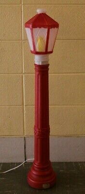 Vintage Lantern Lamp Post Blow Mold - 1969 Empire Lighted Christmas Candle 39""