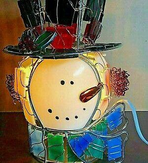 vintage snowman lamp