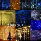 christmas icicle lights 15m
