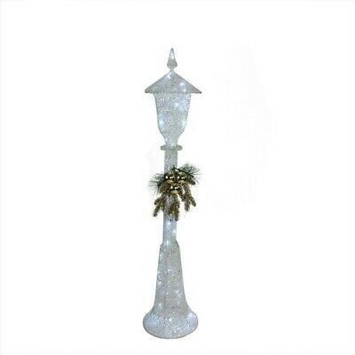"""48"""" LED Lighted Indoor Outdoor Lamp Post Christmas Decoration Cool White Light"""