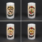 Christmas LED Musical Candle Light Up Moving Figures Xmas Party Home Decorations