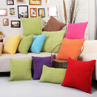 Corduroy Pillow Case Sofa Waist Throw Cushion Solid Pillow Case Home Decor GHG97