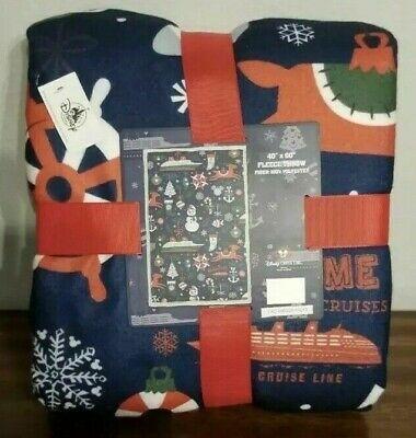 Disney Cruise Line Merrytime Christmas Fleece Blanket Throw Dream Fantasy - NEW