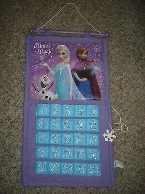 Disney Frozen Anna & Elsa felt Advent calendar snowflake Christmas