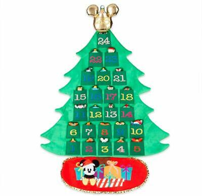 Disney Mickey Mouse and Friends Plush Holiday Tree Advent Calendar Wall Hanging
