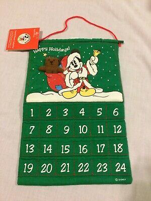 Disney Mickey Mouse Fabric Cloth Advent Calendar Christmas Countdown Hallmark